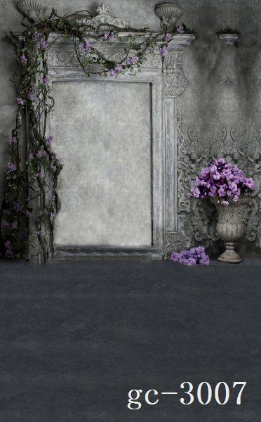 8x15ft indoor light grey wall purple flowers branch door pot custom