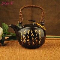 Keramik teekanne 1500 ml  große kapazität  blau und weiß porzellan  keramik handgemachte teekanne  glas teekanne  mit filter|Teekannen|   -