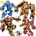 Iron Man Compatible Legoed avengers Armor warrior soldier figures building blocks enlighten bricks toys for children friends