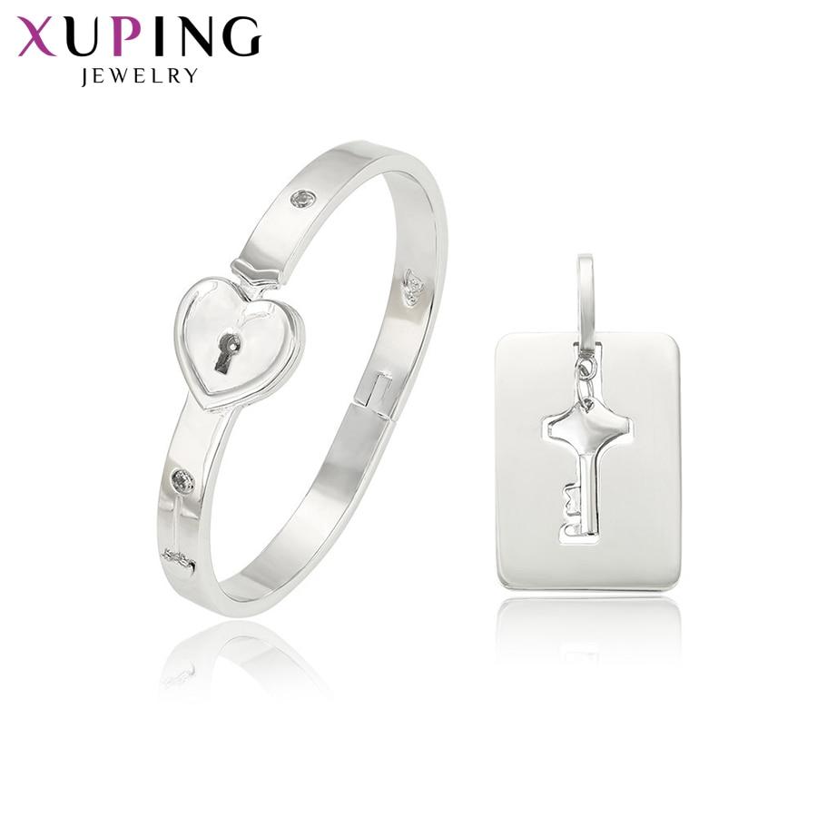 Xuping élégant ensemble de bijoux en acier inoxydable Design populaire spécial romantique fête fiançailles cadeau d'anniversaire pour dames S180.2-S-76