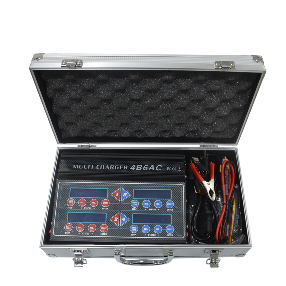 Hot HTRC 4B6AC iMAX Quattro B6AC 5A 80W*4 Professional RC Balance Charger/Discharger For 1-6s LiPo/Lion/LiFe Battery Built-In AC
