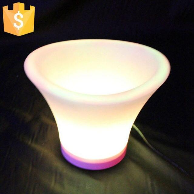 Outdoor Portable Lighting Illuminated Led Ice Bucket Color Changing Fruit Pot Free Shipping 6pcs Lot