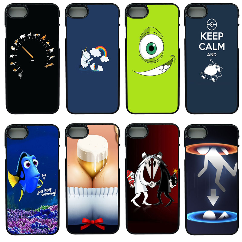 Hot Fashion Fun Dynamic Cell Phone Cases Hard Plastic Shell Phone Cover for iphone 8 7 6 6S PLUS X 5S 5C 5 SE iPod Touch 4 5 6
