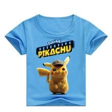 Z&Y 2-16Y 2019 New Pokemon Tshit Kids Shirts Boys Cartoon T-Shirts Boy and Girl Hip Hop Top Tee Pikachu Baby Shirt Short Sleeve