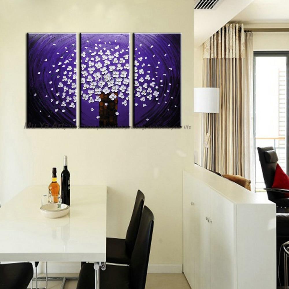 Modern Handmade 5 Panel Home Decor On Canvas Wall Art