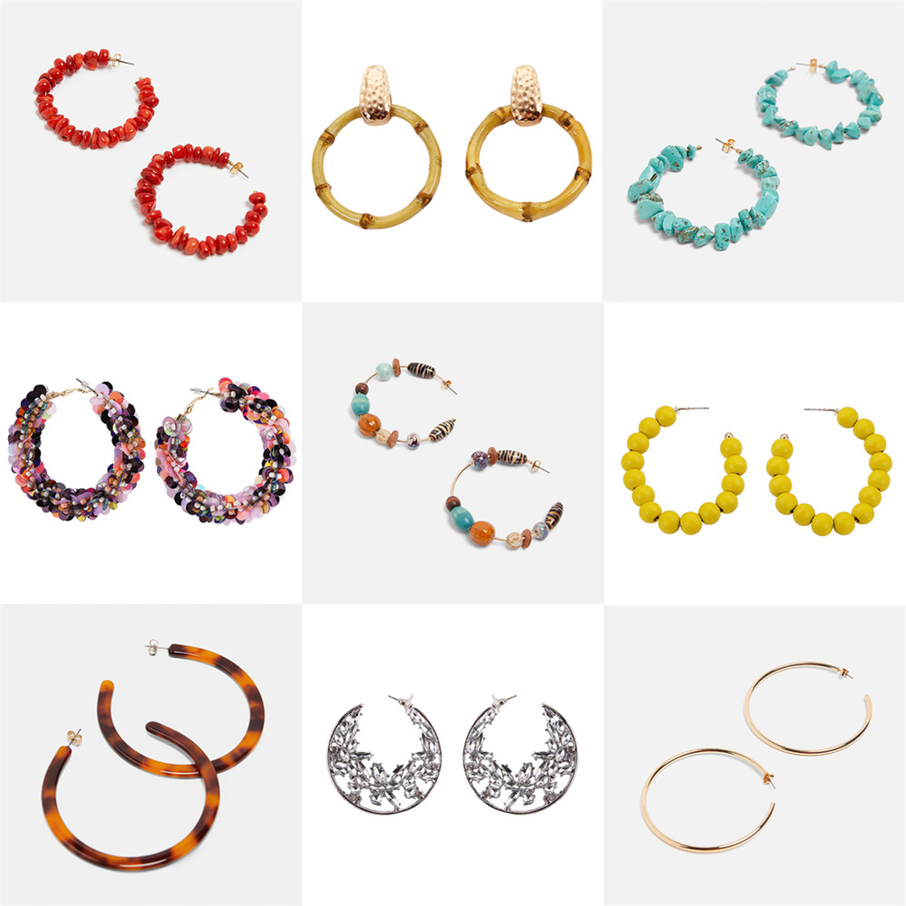 Joe Cool Bracelet Wood Effect Multi Circle /& Rectangle 50mm Made with Acrylic