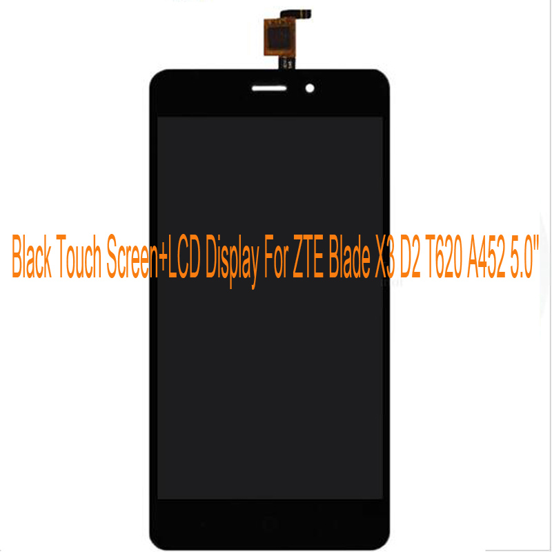 Black/White/Gold LCD Display+TP For ZTE Blade X3 D2 T620 A452 5.0/'/' LCD Display+Touch Screen Touch Panel Digitizer Assembly