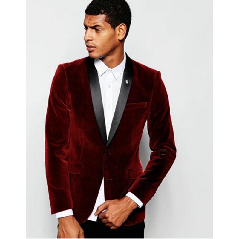 d11a603a8704 Bourgogne Étiquette Mesure Mariage veste The custom Image Fit Sur Avec Pour  Noire Tuxedos Costume Hommes ...