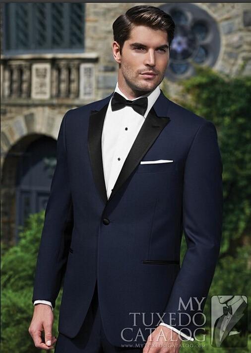 2017 Fashion bridegroom Black Smoking jacket / wedding tuxedo for ...