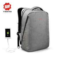 2017 Tigernu New Men Backpack Anti Theft External USB Charge Port For 14 17 Laptop Backpack