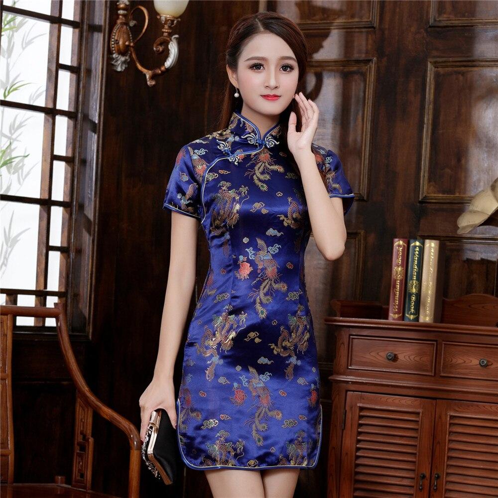 Plus Size 3XL 4XL 5XL 6XL Chinese Qipao Klassieke Vrouwen Satijn Cheongsam Oosterse Bruid Trouwjurken 2020 Nieuwe Avond Party gown 5