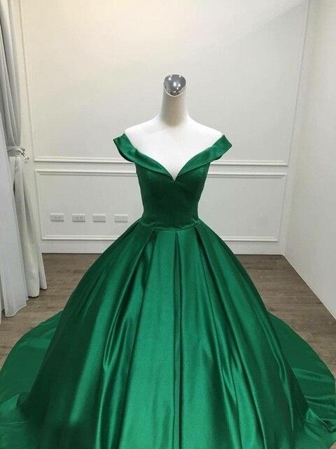 2021 Elegant Simple Red Prom Dresses V Neck Ball Gowns Cap Sleeve Satin vestidos de formatura Backless Reflective Dress 5