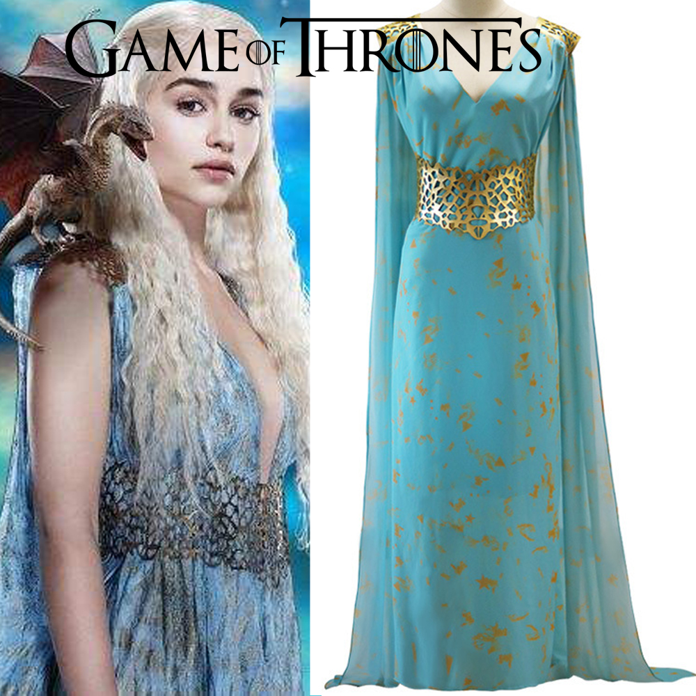 game of thrones daenerys targaryen dress cosplay costume a song of