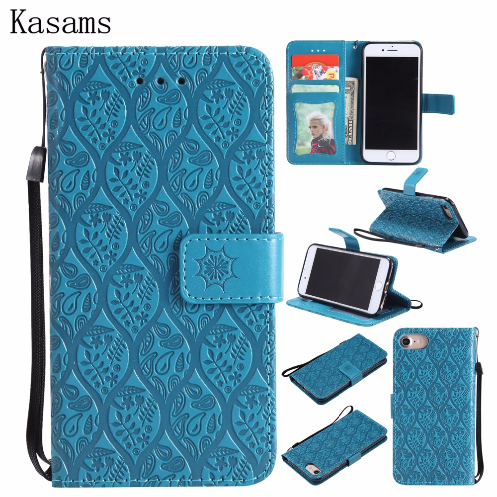 3D Vines Embossed For iPhone 8 iPhone8 Phone Case PU Leather For Apple iPhone 8