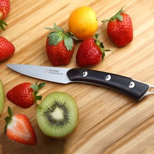 TUO Cutlery Hacker Series 3.5 Inch Paring Knife Kitchen Blade Sharp Peeler Cutter 440 Japanese Stainless Steel Ebony Handle