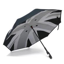 Юнион Джек двойной Слои обратный зонтик для защиты от ветра складной перевернутый вверх тормашками для Mini Cooper One JCW S Аксессуары для земляков