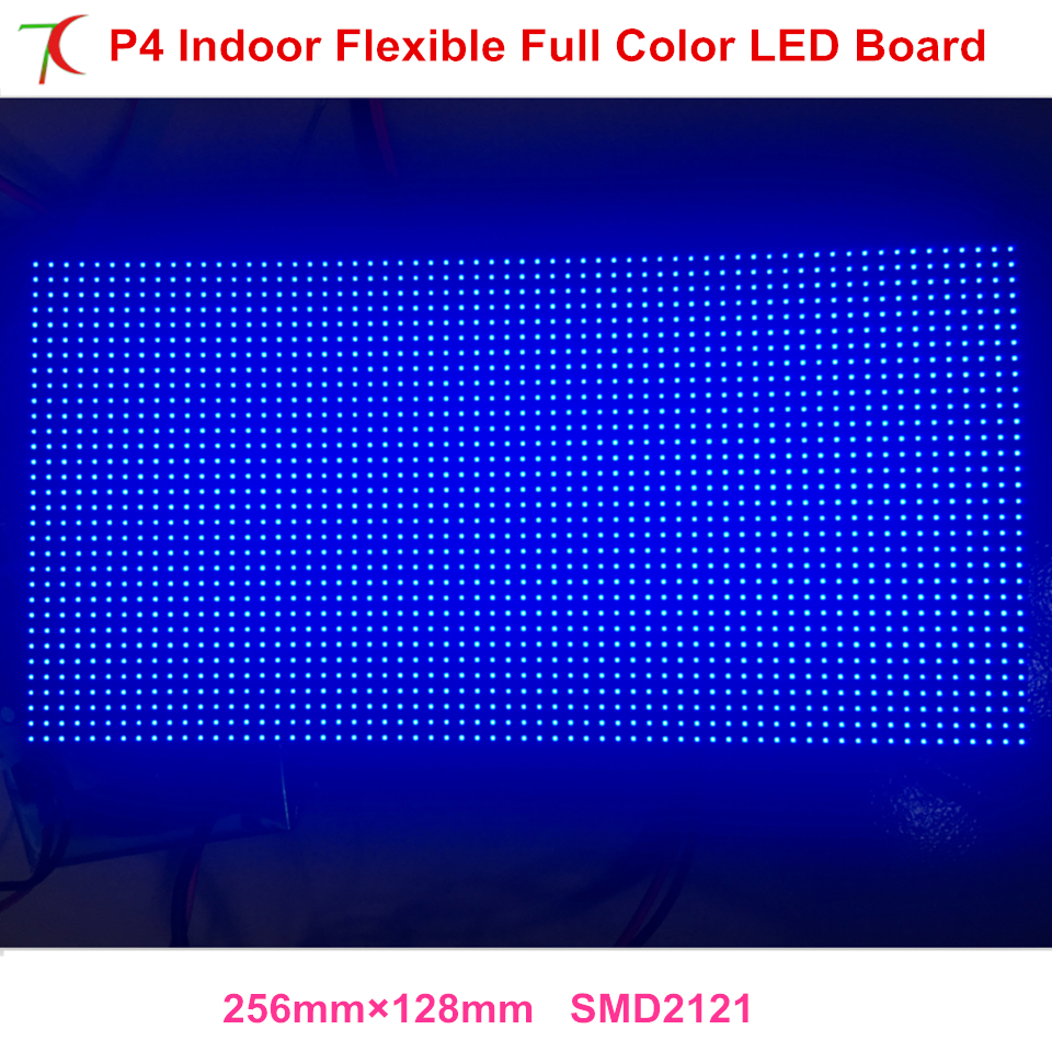 Indoor P4 Rgb Flexible Full Color Led Module Use For Colunm Led Screen Dot Matrix Smd2121 Hub75 Billboard