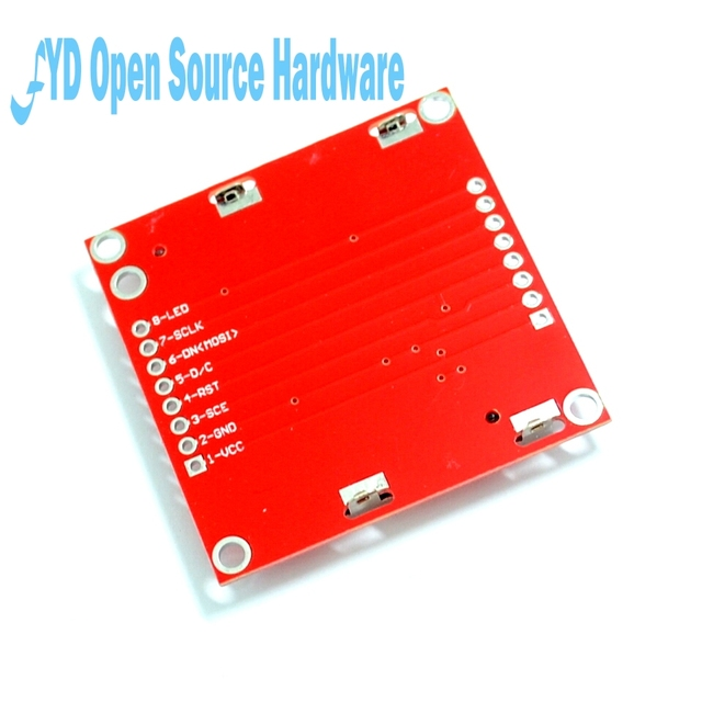 High Quality 84X48 84x84 LCD Module Red backlight adapter PCB for Nokia 5110 for 2