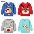 1-5Y Niños Hoodies Girls Rojo Reno de la Navidad de lana gruesa Sudadera Con Capucha Bebé Gruesa Sudaderas Suéter de la Historieta del Cabrito 1014 03