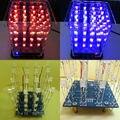 Новый Красочный 4*4*4 3D LightSquared Белый Синий и Красный Луч LED 3D LED Cube DIY Kit