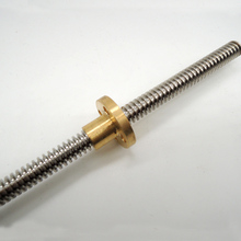 3D Printer THSL-600-8D Lead Screw Dia 8MM Pitch 2mm Lead 4mm Length 600mm with Copper Nut Free Shipping