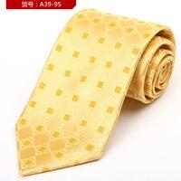 새로운 패션 남성 넥타이 자카드 gravatas 넥타이 슬림 비즈니스 녹색 실크 넥타이 뽕나무 실크 넥타이 웨딩 & 회의