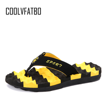 COOLVFATBOBig Size Summer Slippers Flip Flop Shoes Fashion Men Shoes Brand Male Massage Slippers Beach Slide Shoes Water Shoes