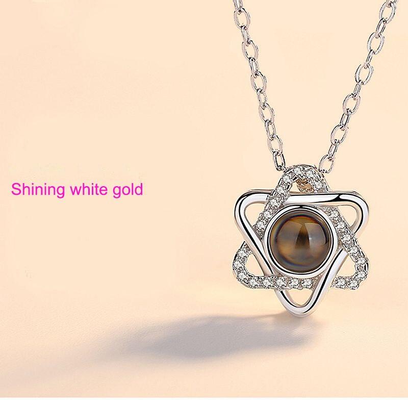 100X love heart four-leaf grass pendant alloy retro jewelry accessorie diy
