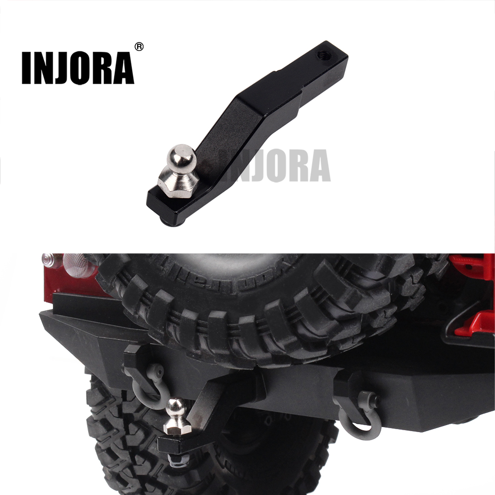 INJORA TRX4 RC Car Aluminum Alloy Drop Hitch Receiver for 1/10 RC Crawler Traxxas TRX-4 mxfans rc 1 10 2 2 crawler car inflatable tires black alloy beadlock pack of 4