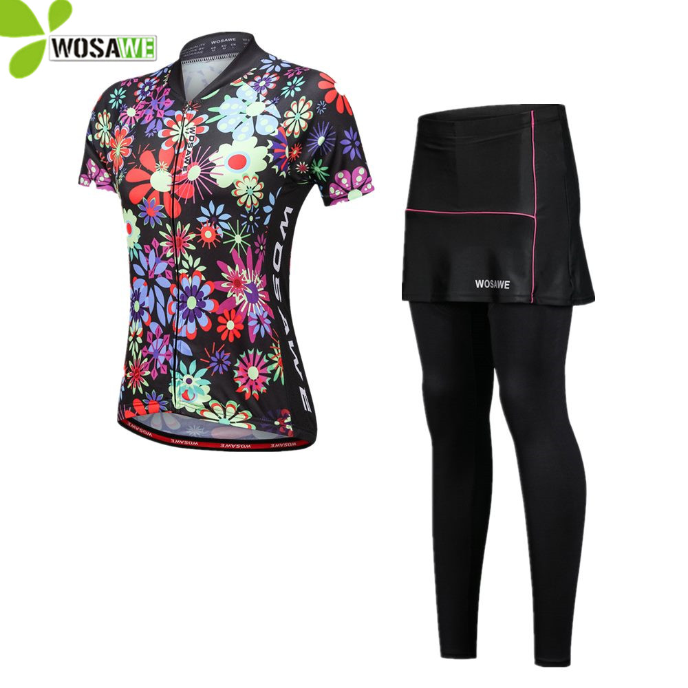 638cc9103 WOSAWE 2018 Women s Cycling Jersey Sets Sportswear Quick Dry Wear MTB Bike  Bicycle Maillot Cycle Clothing Summer Ride Suits