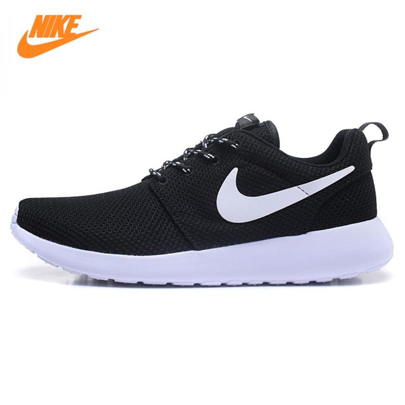 Кроссовки Nike Roshe Run Для мужчин дышащие сетчатые Кроссовки, оригинальный новый Для мужчин outdppr Спорт Спортивная обувь кроссовки Обувь