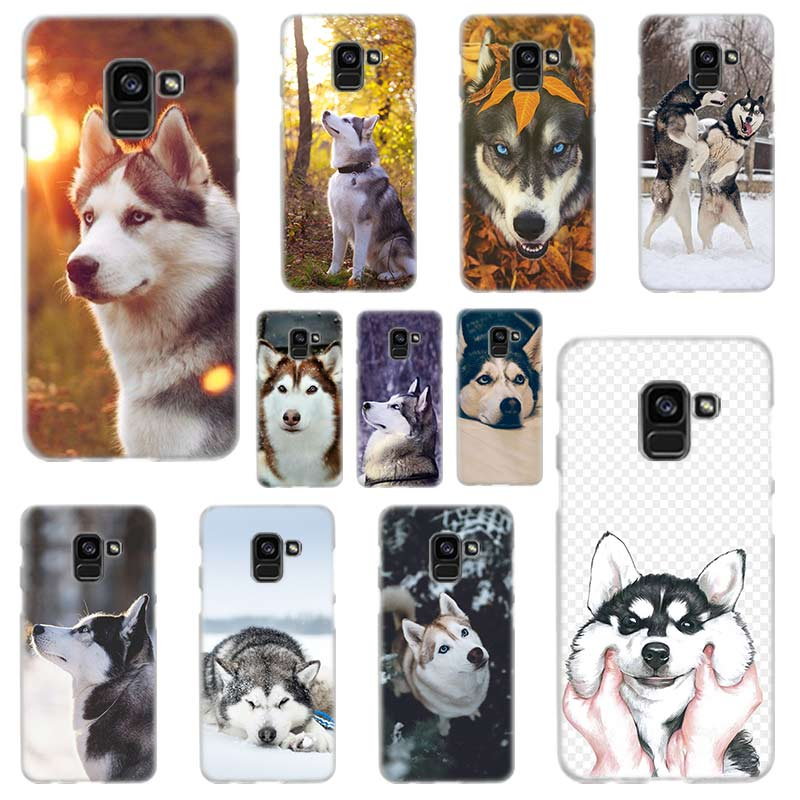 Animal Husky <font><b>DOG</b></font> Hard <font><b>Case</b></font> for <font><b>Samsung</b></font> <font><b>Galaxy</b></font> A7 A6 A8 Plus A9 <font><b>A3</b></font> A5 2016 <font><b>2017</b></font> 2018 A30 or A20 A50 A60 A70 image