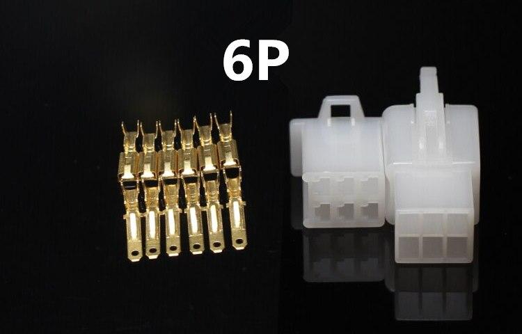 10 2,8mm 2/3/4/6/9 pin automóvil 2,8 alambre eléctrico conector macho mujer terminal de cable enchufe Kits de ebike coche bien