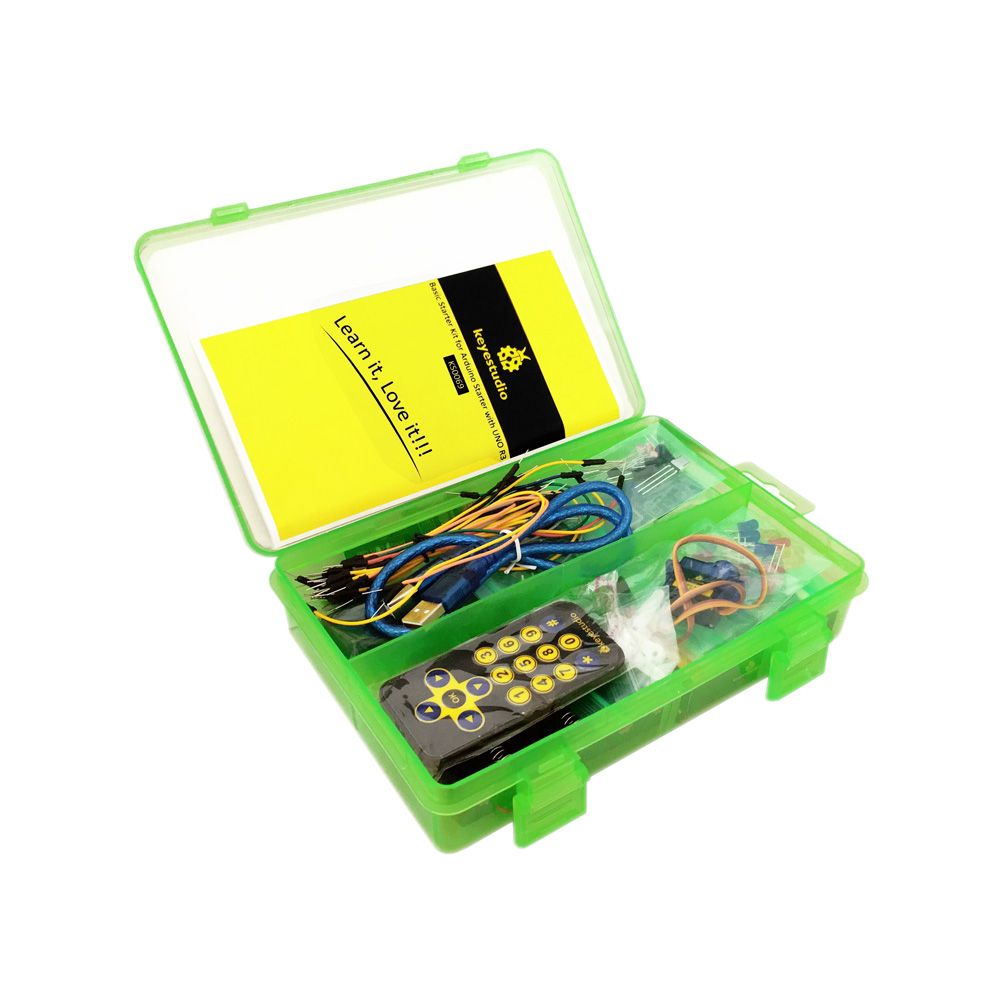 Keyestudio Basic Starter Kit Learning Kit For Arduino Programming Education With Leds+pdf no Uno Free Shipping