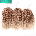 3 Pcs/set 8-10 Inch Marlybob Crochet Twist Braids Ombre Kinky Curly Braiding Hair Jerry Curl Crochet Hair Extensions for Women