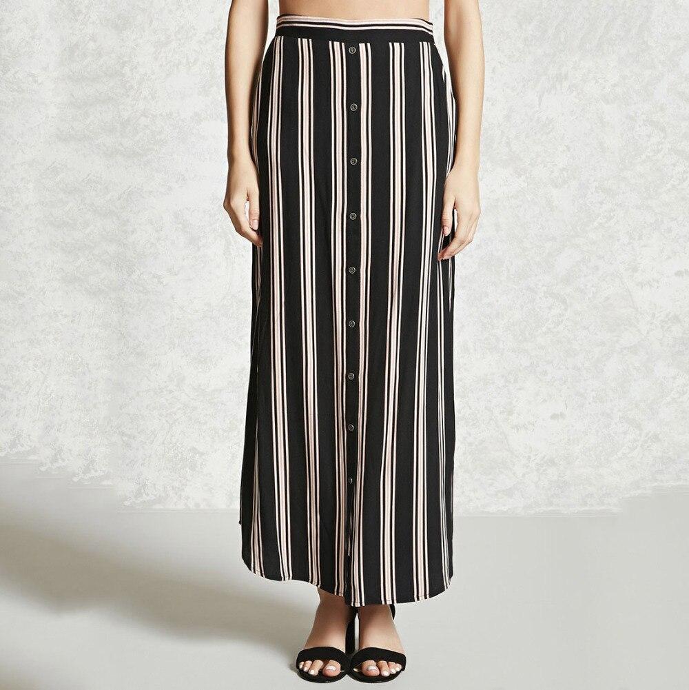 Online Get Cheap Maxi Skirt Slit Striped -Aliexpress.com | Alibaba ...