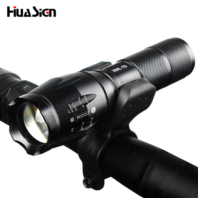 Professional Waterproof CREE XM-L T6 3800LM Bicycle Light Torch Zoomable LED Flashlight Bike Light With Torch Holder zk35 cree xm l 3800 lm q5 led flashlight torch zoomable light black led bicycle light with battery and charger holder