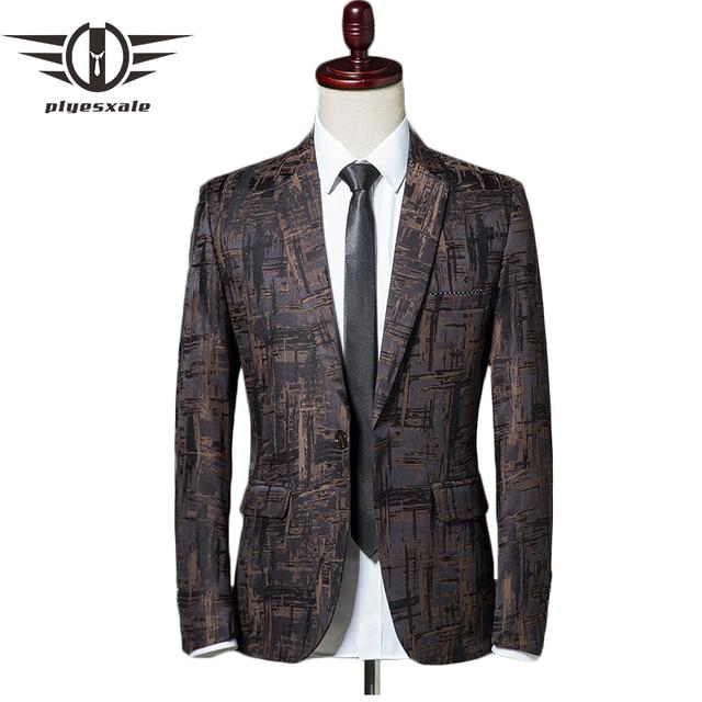 Slim Fit Casual Blazers Men Spring Autumn Stylish Blazer For Men