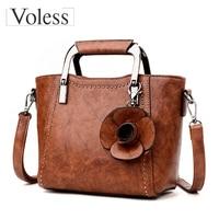 VOLESS Luxury Designer Flower Crossbody Bags For Women Leather Handbags Fashion Female Tote Bag Women Messenger