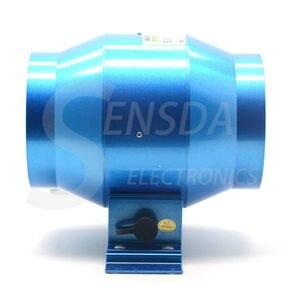 Image 2 - 新しい抽出可変速制御排気ファン換気のため気流昇圧庭農地窓 Fan4/6 インチ