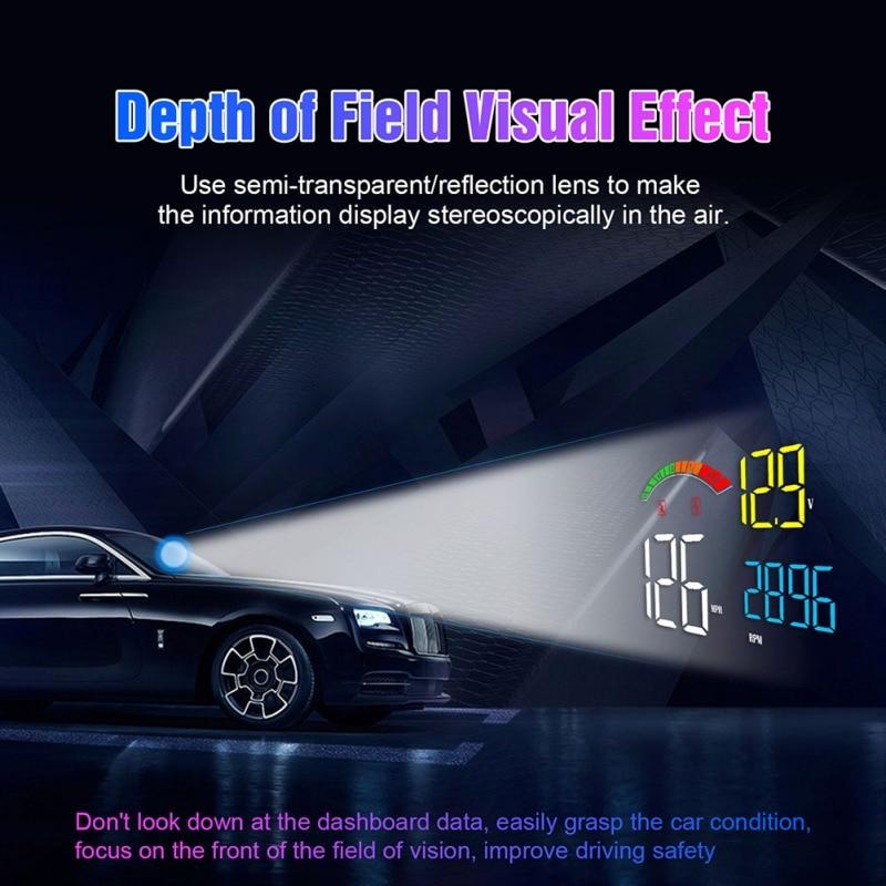C800 Head-up Display OBD2 II GPS Overspeed Warning System Speedometer Projector