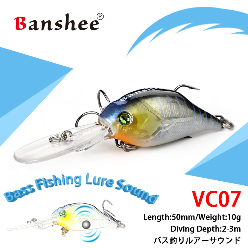 Banshee 53mm 10g Crankbaits Fishing Wobblers For Trolling Hard Lure Wobblers For Pike Crochets Wobblers Cranckbait Crank Baits