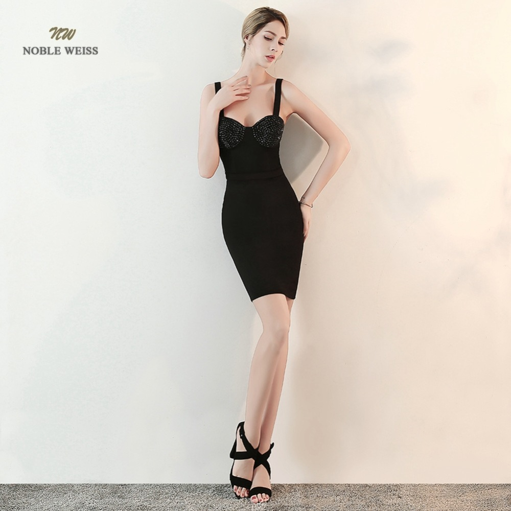 prom     dresses   2019 straight short black   prom     dress   sexy sweetheart vestidos de gala beaded   prom   gown
