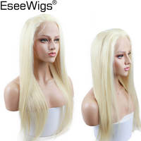 Eseewigs Blonde Wig Human Hair Glueless Full Lace Wig With Baby Hair Pre Plucked Hair Line Silky Straight Remy Brazilian Hair