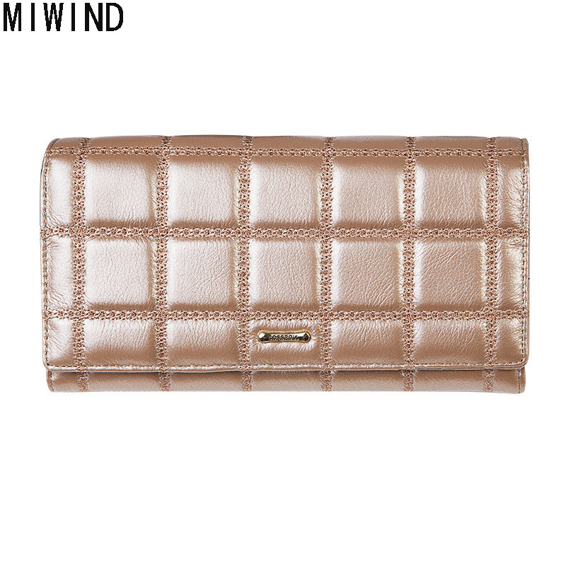 Famous Brand Plaid Pattern Women Wallets Genuine Leather Design Long Purse Luxury Brand Female Coin Card Holder Purses TG1544 цена