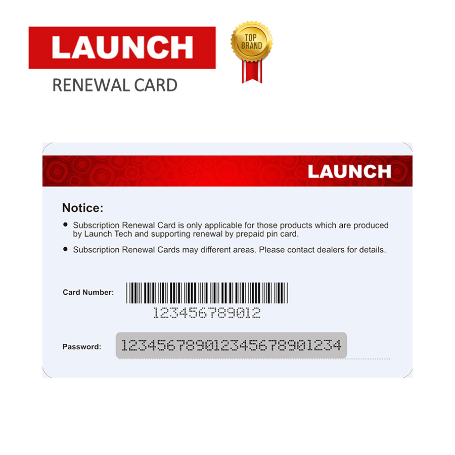 Launch Renewal Card/Update Card/Pin card Extend 1/2 years' update time for x431 v+/v/pros mini/pro mini/pro/pros/pro3s/HD/Diagun цена