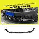 Carbon Fiber / FRP Car Front Lip Spoiler Chin Apron Bumper Guard for Ford Mustang Coupe Convertible 2-Door 2015 2016 2017