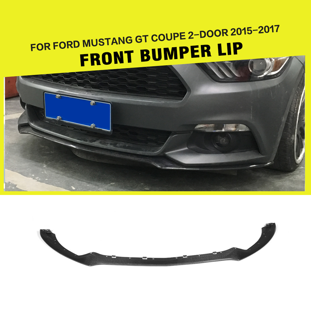 Carbon Racing Front lip Spoiler Chin Apron Bumper Guard for Ford Mustang Coupe & Convertible 2-Door 2015-2017