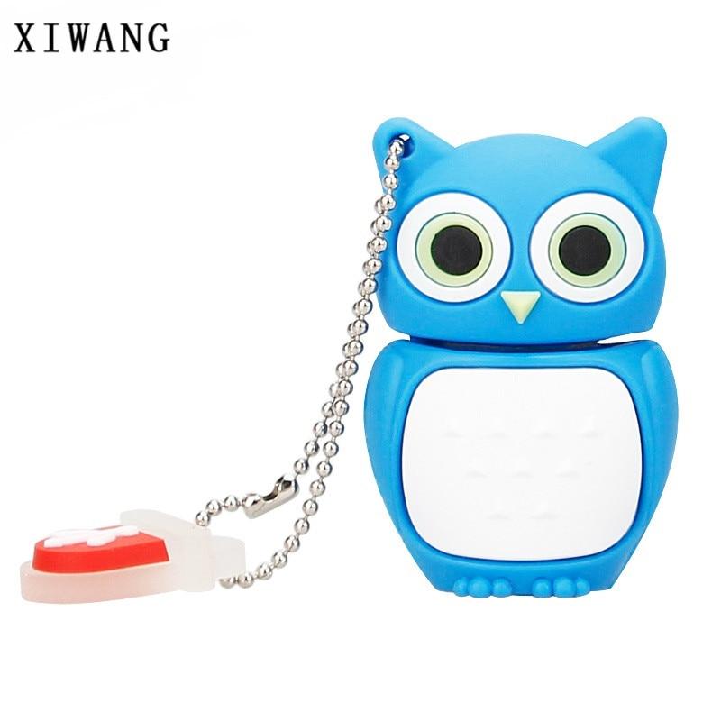 XIWANG cute animal cartoon owl USB flash drive 2.0 4GB 8GB 16GB 32GB 64GB USB drive computer disk creative pendrive holiday gift