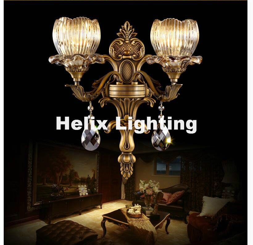 Hot Sale New Arrival 100 Guarantee Crystal Wall Light Brass Color